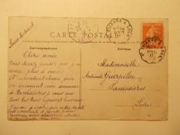 Marcophilie - Lettre Enveloppe Cachet Oblitération Timbres - FRANCE - CPA CHARLY - Ondulé 1911 (361) - Marcophilie (Lettres)