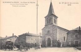 CPA 43 SAINT BONNET LE FROID LA PLACE DE L'EGLISE - Sonstige Gemeinden