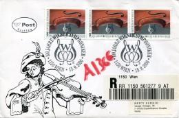 8074  Austria,  Circuled Registered Cover 2000  Wiener Philarmoniker, - Music