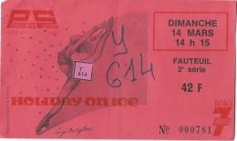 Ticket D'entrée/Holiday On Ice / Palais Des Sports /Télé 7 Jours //1976     SPO84 - Patinage Artistique