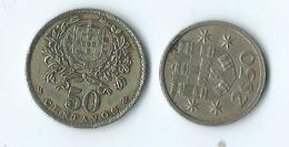 Portugal 50 Centavos 1928 Et 2.50 1975 - Portugal