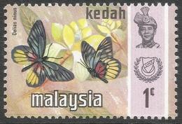 Kedah (Malaysia). 1971 Butterflies. 1c MH. SG 127 - Malaysia (1964-...)