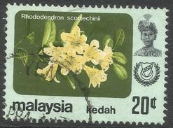 Kedah (Malaysia). 1979 Flowers. 20c Used. SG 140 - Malaysia (1964-...)