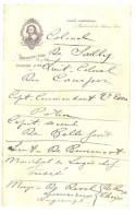 Papier à En-tête Café Cardinal , Bernard & Patry ( Liste De Soldats, Gradés, Militaires ) - Alimentaire