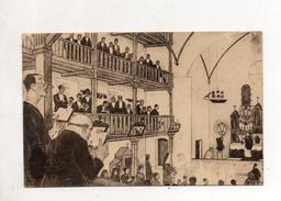 """Pays Basque """" La Messe """" D'apres Une Aquarelle De Jacques Le Tanneur - Other"""