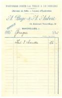Facture A. Puge & A. Aubert, Montpellier, Voitures Pour La Ville & Le Dehors, Chevaux De Selle, équitation - France