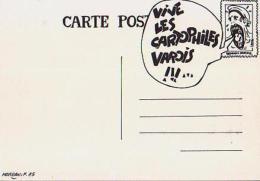 Cartophilie        H5        Cartophiles Varois .Vive Les Cartophiles Varois.Convocation ( Illustrateur  Moreau 85 ) - Bourses & Salons De Collections