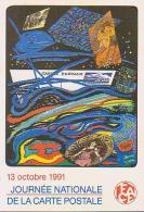 Cartophilie        H17         FACF . Journée Nationale ( 1991 ) ( Illustrateur Pagès ) - Bourses & Salons De Collections