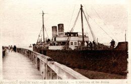 N°155 E -cpa Ouistreham -l'Ardena Et Les Jetée- - Commerce