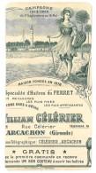 Pub Papier Découpée Sur Un Prospectus : William Célérier, Arcachon, Huîtres - Publicités
