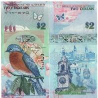 BERMUDA 2 Dollars  Very Attracitve  Birds  P57b  Dated 1.1.2009 Serial A/1 UNC - Bermuda