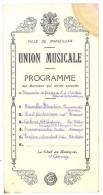 Programme Union Musicale, Marseillan ( Hérault ) - Programmes