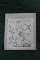 CARTE GEOGRAPHIQUE ENTOILEE - Montpellier , Castelnau, Teyran, Grabels, Lattes, St Jean De Vedas, Pérols.. - Geographical Maps
