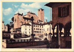 CARTOLINA   FELTRE - PIAZZA MAGGIORE      VIAGGIATA 1954 - Italia