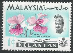 Kelantan (Malaysia). 1965 Orchids. 1c MH. SG 103 - Malaysia (1964-...)