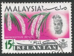 Kelantan (Malaysia). 1965 Orchids. 15c Used. SG 108 - Malaysia (1964-...)