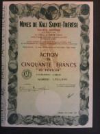1 Mines KALI Sainte-Thérèse 1973 Action 50 FR (pour Collection) - Aandelen