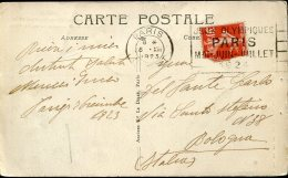 8138 France,  Circuled Card 1923 With Special Postmark Paris ,  Jeux Olympiques Paris 1924