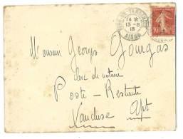 Lettre Postée De Fère En Tardenois Vers Apt ( Vaucluse ), Tampon Au Verso Pierre Pourgue (?), Notaire - Otros
