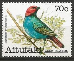 Aitutaki MNH - Family WAXBILLS + MUNIAS And ALLIES - Red-headed Parrotfinch ( Erythrura Cyanovirens ) - Zangvogels