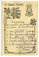 Carte Programme 53e Régiment D'Infanterie ( Musique, Perpignan ? ) - Programmes