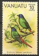 Vanuata MNH - Family WAXBILLS + MUNIAS And ALLIES - Blue-faced Parrotfinch ( Erythrura Trichroa ) - Zangvogels