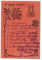Carte Programme 53e Régiment D'Infanterie ( Musique, Lyre, Perpignan ? ) - Programmes