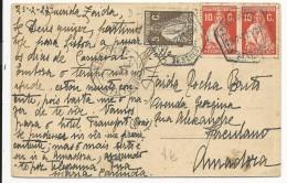 PORTUGAL - 1927 - CARTE De PORTO CENTRAL Pour AMADORA - Marcophilie