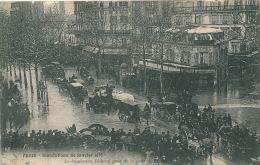 PARIS - XIIème Arrondissement - CRUE DE LA SEINE JANVIER 1910 - Le Boulevard Diderot Près De La Gare De Lyon - Arrondissement: 12