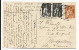 PORTUGAL - 1920 - CARTE De LISBONNE Pour MONTPELLIER (HERAULT) - Marcophilie