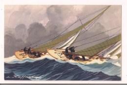 >> Yachts De Courses Croisières Courant Bord à Bord - Haffner - Collection De La Ligue Maritime Et Coloniale - - Segelboote