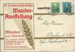 HONGRIE - 1929 - CARTE PUBLICITAIRE (EXPO ITINERANTE ALLEMANDE De MUNICH) De BUDAPEST Pour BERLIN - Marcophilie