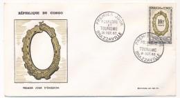 CONGO => 2 Enveloppe FDC => Folklore Et Tourisme - 21 Octobre 1963 - Brazzaville - FDC