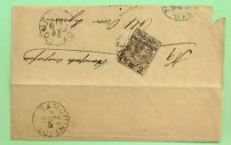 I.REGNO ANNO 1890 - VALEVOLE PER LE STAMPE N° 55 SU FRAMMENTO - ANNULLO SANGUINETO - Marcofilía