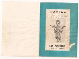 Estampillas Religiosas - Novena De SAN PANCRACIO - Imágenes Religiosas
