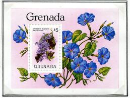 (cl. 36 - P.14) Grenade ** Bloc N° 101 - Papillons Et Fleurs - - Butterflies