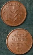 M_p> Palestina - Palestine 1 Mil 1941 - Bella Conservazione - Israele