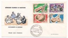 MAURITANIE => Enveloppe FDC => Instruments De Musique - 8 Mars 1965 - Nouakchott - Mauritanie (1960-...)