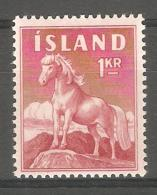 Sello Nº 284 Islandia - Caballos