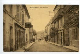 Saint Cyprien Rue Gambetta (librairie Daudrix) - Sonstige Gemeinden
