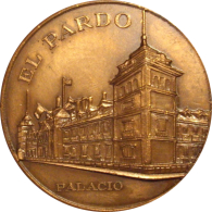 ESPAÑA. FRANCISCO FRANCO. MEDALLA III ANIVERSARIO 1.978. PALACIO DEL PARDO. ESPAGNE. SPAIN - Royaux/De Noblesse