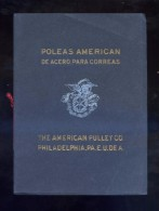 *The American Pulley Cº* Poleas American. Tapas Y 28 Pags. Meds: 143x194 Mms. - Máquinas