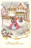 CPA Fantaisie - Illustrateur - Couples - Paysage - Bonne Année - Illustrateurs & Photographes