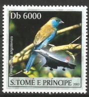 Sao Tome E Principe MNH - Family WAXBILLS + MUNIAS And ALLIES - Blue Waxbill ( Uraeginthus Angolensis ) - Zangvogels