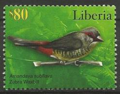 Liberia MNH - Family WAXBILLS + MUNIAS And ALLIES - Orange-breasted Waxbill ( Amandava Subflava ) - Zangvogels