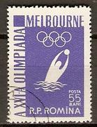 ROUMANIE     -    1956 .  JO  MELBOURNE   /   WATER POLO       -    Oblitéré