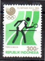 INDONESIE  N° 1151   * *  Jo 1988  Tennis De Table - Tennis Tavolo