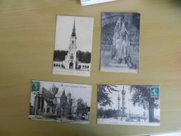 Lot De  4 Cp France - Dijon , Bordeaux ,  Basillique  Du Bois Chenu ,  Marseille - Postcards