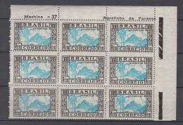 Brazil Brasil Mi# 435 ** MNH Corner Block Of 9 DIA DA CRIANCA 1935 - Brazilië