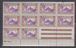 Brazil Brasil Mi# 436 ** MNH Block Of 10 DIA DA CRIANCA 1935 - Brazilië